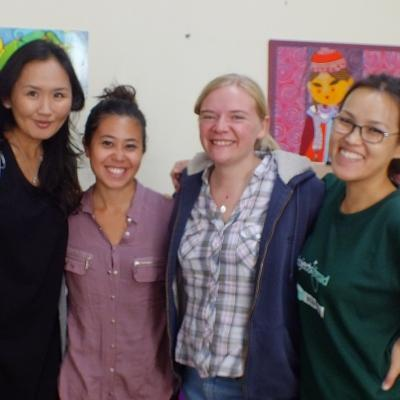 Projects Abroad Care and Psychology workers pose for a group photo in a care centre during their Psychology placements in Mongolia.